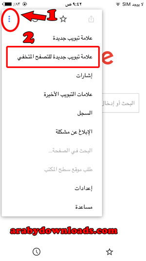 تصفح متخفي - google chrome download