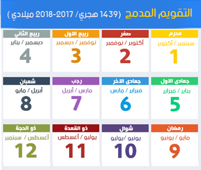 calendar hijri 1439